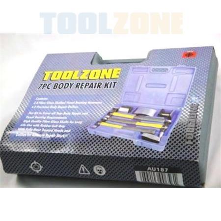 toolzone 7pc fiber handle body repair kit