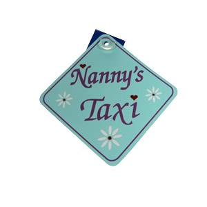 Nanny`s Taxi hanging banner