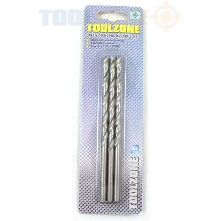 Toolzone 3Pc 6.0mm Long HSS Drill Set