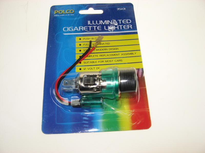 illuminated cigarette lighter kit 12 volt