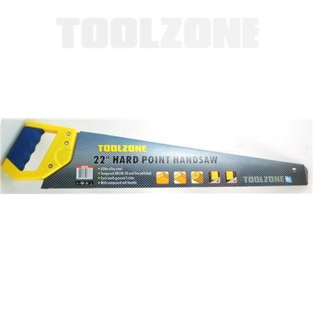 "toolzone 22"" hard point handsaw"