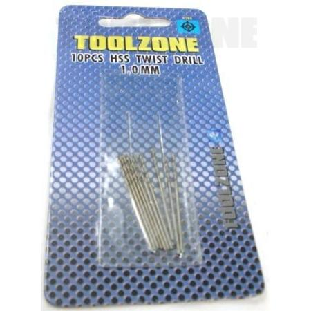 toolzone twist drill set 1mm