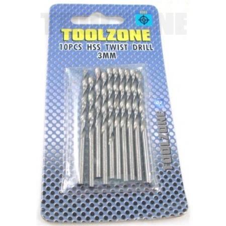 toolzone twist drill set 3mm