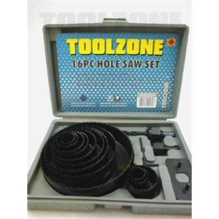 toolzone 16pc hole saw set