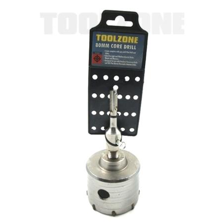 toolzone 80mm SDS plus core drill TCT tipped