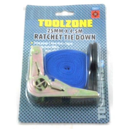 """toolzone 1""""x15ft ratchet tie down"""