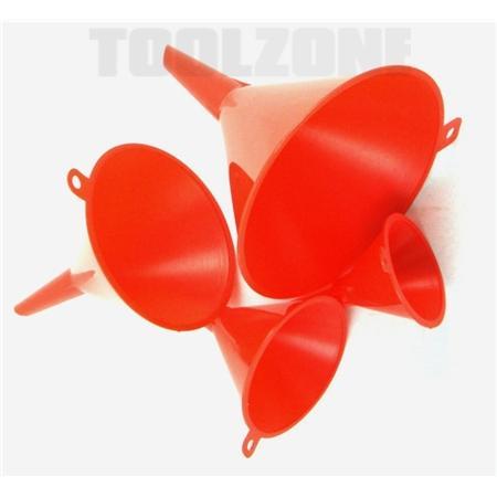 toolzone 4pc funnel set