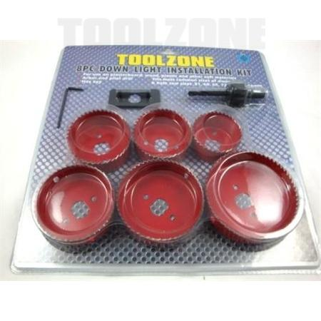 toolzone 8pc down light installers kit