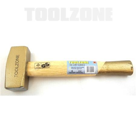 toolzone 1kg lump hammer