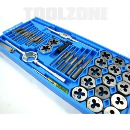 toolzone 40pc tap and die set
