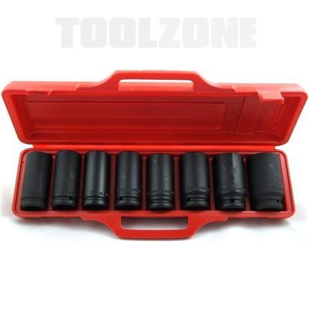toolzone 8pc socket set