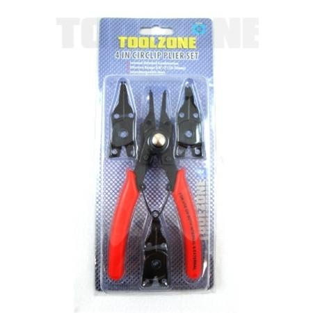toolzone 4 in 1 circlip pliers