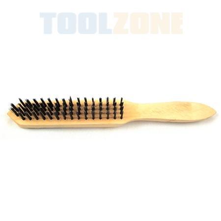 toolzone 4 row wire brush