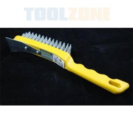 toolzone 5 row hand wire brush