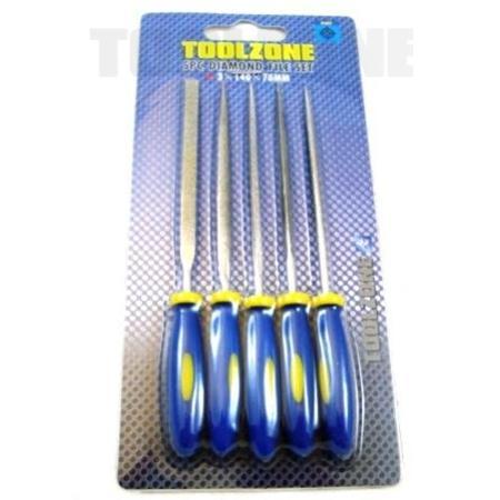 toolzone 5pc diamond file set